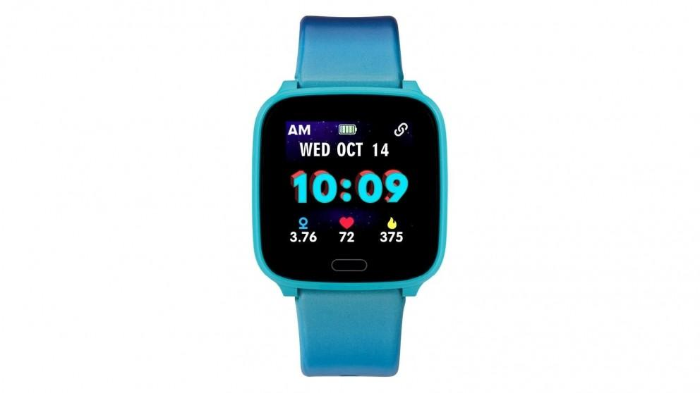 iConnect by Timex Kids Active 37mm Resin Strap Smartwatch – Blue