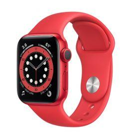 Apple Watch S6 GPS Red Aluminium Case Red Sport Band 40mm