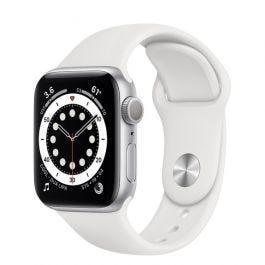 Apple Watch S6 GPS Silver Aluminium Case White Sport Band 40mm