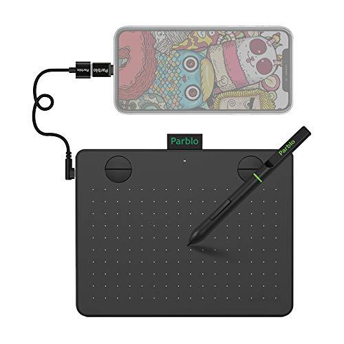 Parblo A640 V2 Drawing Tablet, Graphic Tablet with 8192 Levels Pressure Battery-Free Pen, 6 x4 Inch OSU Tablet for Digital Artworks, Elearning (Black)