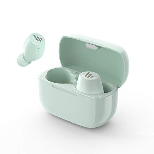 Edifier TWS1 True Wireless Earbuds – Up to 32 Hour Battery Life with Charging Case and Mic, Bluetooth v5.0 aptX, IPX5 Splash & Sweatproof, Easy Pairing – Mint Green