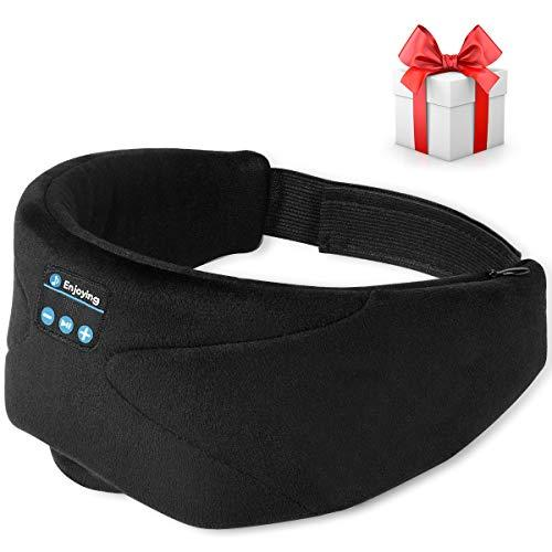 Sleep Headphones, 2020 Wireless 5.0 Bluetooth Eye Mask Music Sleep Mask Noise Canceling Bluetooth Headphones, HD Stereo Sound, Travel Music Play Built-in Speakers Microphone Handsfree