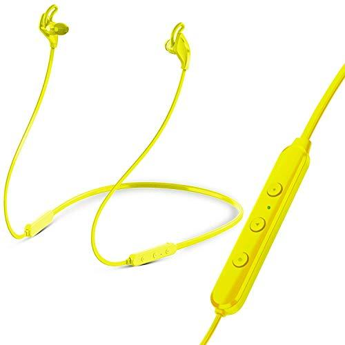 Skyvirth in-Ear Headphones| Premium Sound Bluetooth Noise Cancelling Wireless Earphones, Wireless Earbuds Suitable for a Wide Range of Phones (Yellow, White, Orange, Black)