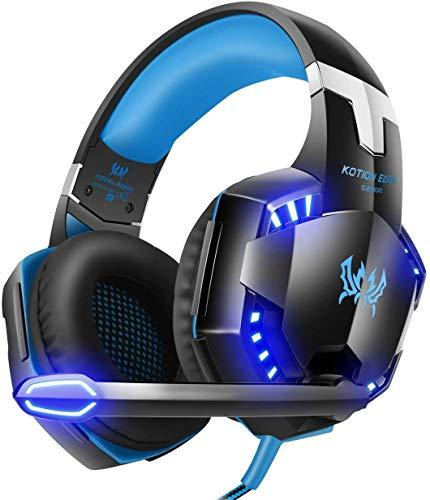 GAMEFAN G2000 3.5mm Jack Wired Over-Ear Headphones for Xbox One/PS4/Nintendo Switch/PC/Mac (Bule)
