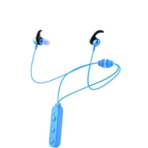 Wireless Bluetooth Sports Earbuds Headphones V5.0, In-Ear IPX6 Sweatproof, Running Gym Travel Sports and Built-in Microphone Necklace Style Hanging Neck Anti-lost Magnetic Attracting Headphones (blue)