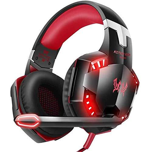 G2000 3.5mm Jack Wired Over-Ear Headphones for Xbox One/PS4/Nintendo Switch/PC/Mac (Red)
