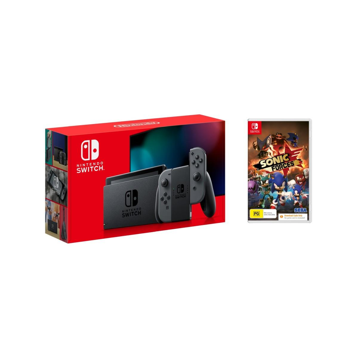 Nintendo Switch Console Grey + Sonic Forces Download Code Bundle