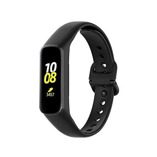 TERSELY Replacement Band for Samsung Galaxy Fit 2 2020, Adjustable Sports Bands Fitness Exercises Workout Sport Strap Runner Bracelet for Galaxy FIT2 Tracker SM-R220 (2020 Released) – Black