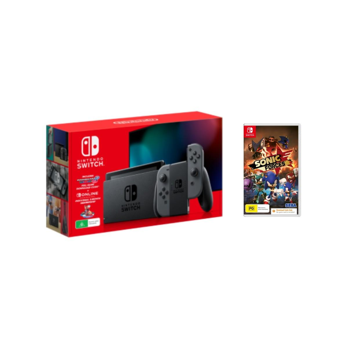 Nintendo Switch Holiday Bundle Grey + Sonic Forces Download Code