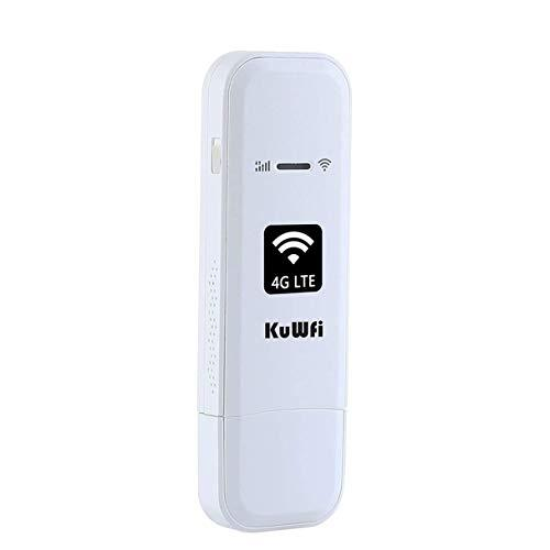 KuWFi 4G LTE USB WiFi Modem Mobile Internet Devices Portable Hotspot with TS9 Port SIM Card Slot Work with Optus/Telstra/Virgin Mobile/Vodafone