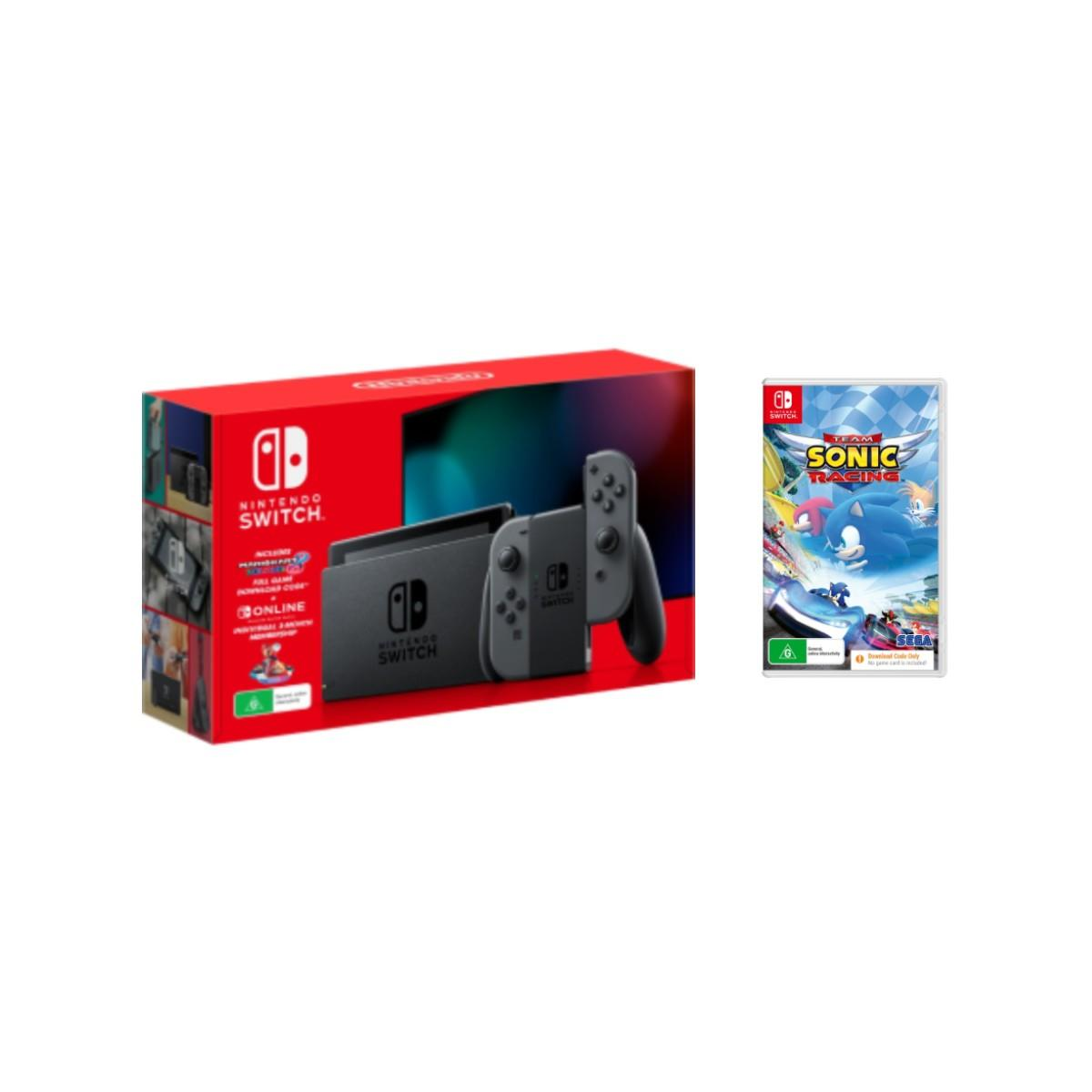 Nintendo Switch Holiday Bundle Grey + Team Sonic Racing Download Code