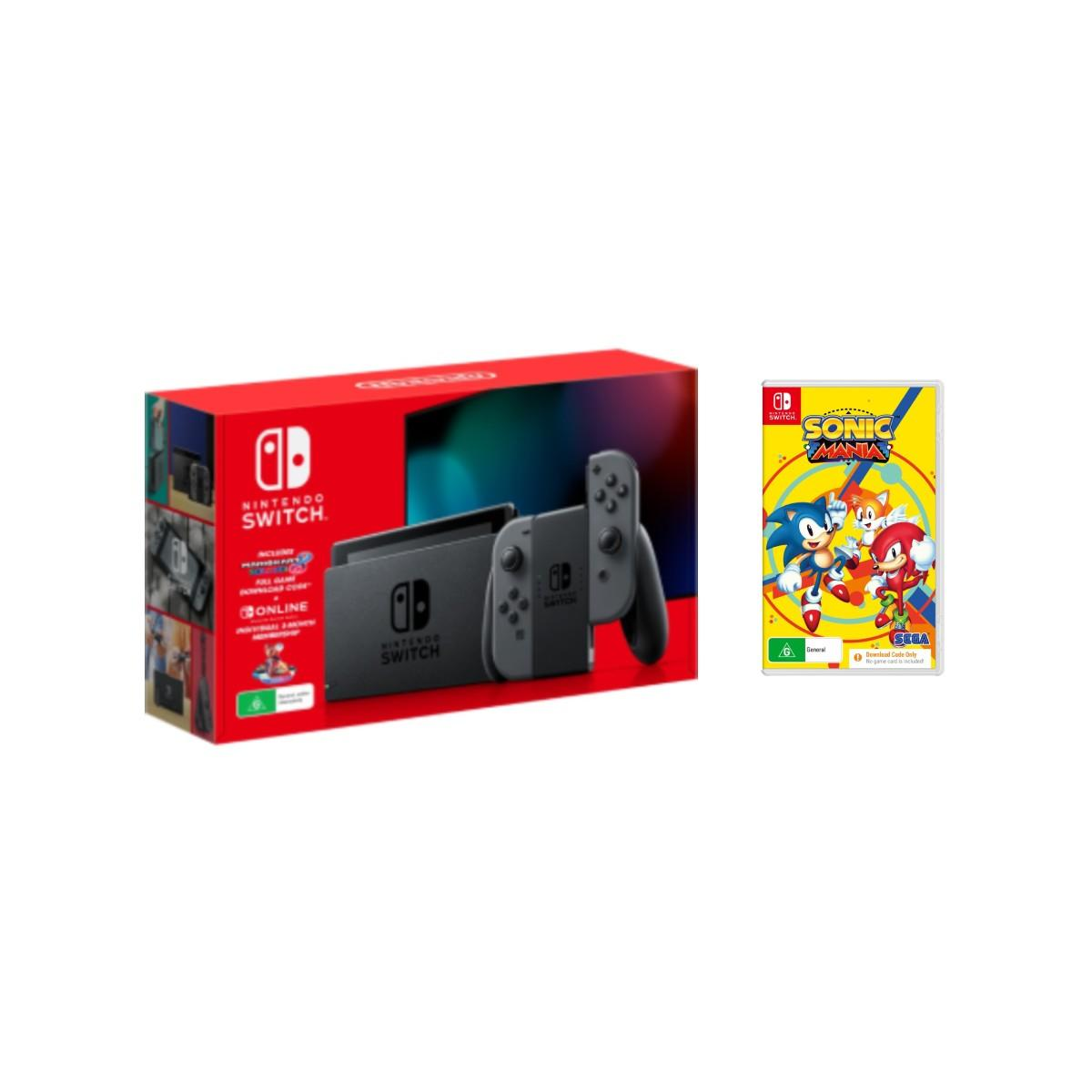Nintendo Switch Holiday Bundle Grey + Sonic Mania Download Code
