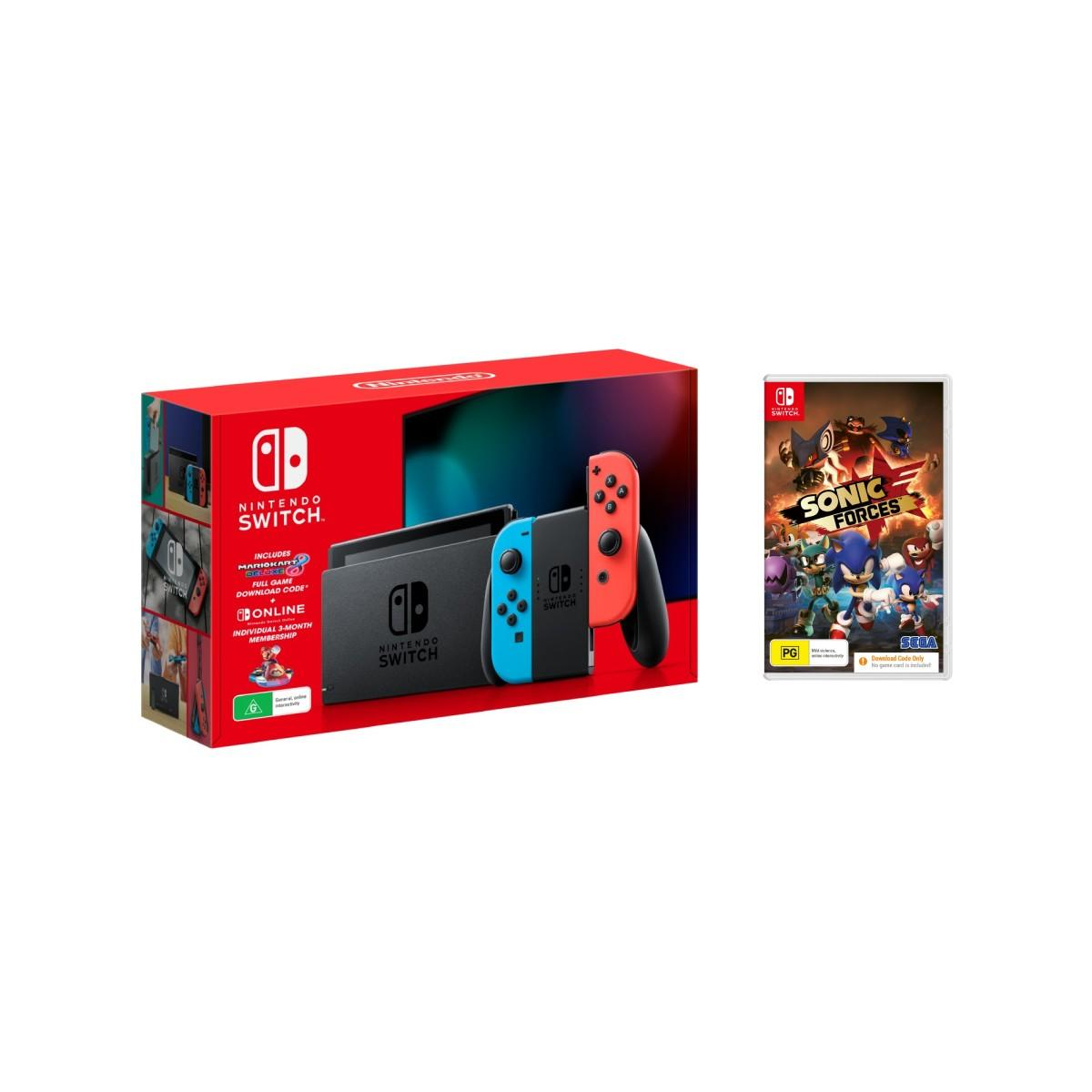 Nintendo Switch Holiday Bundle Neon + Sonic Forces Download Code