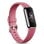 Fitbit Luxe | Fitness and Wellness Tracker – Orchid / Platinum Stainless Steel